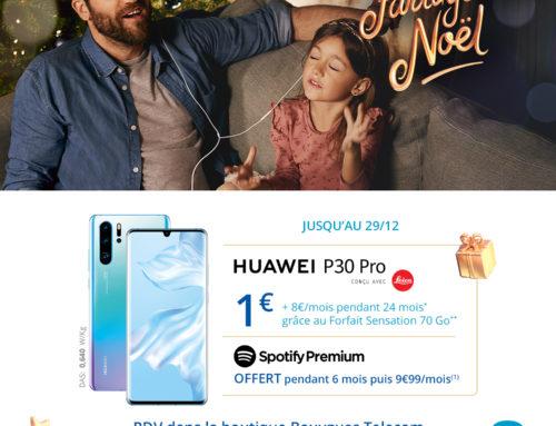 Bouygues Telecom : Huawei P30 Pro à 1€* (jusqu'au 28 décembre 2019)