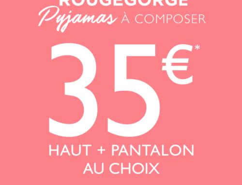 RougeGorge Lingerie : Pyjamas à composer (jusqu'au 25 décembre 2019)