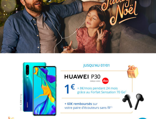 Bouygues Telecom : bon plan Huawei P30 (jusqu'au 7 janvier 2020)