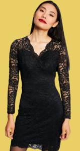 5 looks de fête centre commercial auchan béziers robe dentelle noire