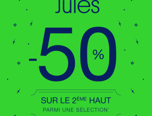 Opération Noël Jules : -50% sur le 2ème haut (jusqu'au 25 décembre 2019)