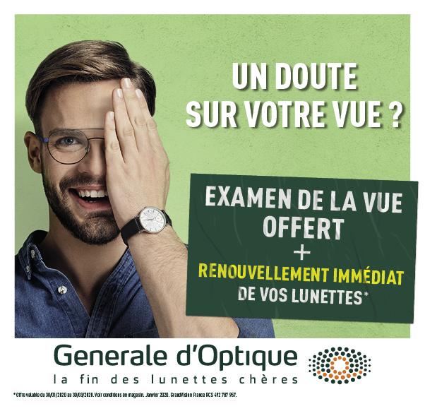 generale d'optique examen vue offert bon plan centre commercial auchan beziers